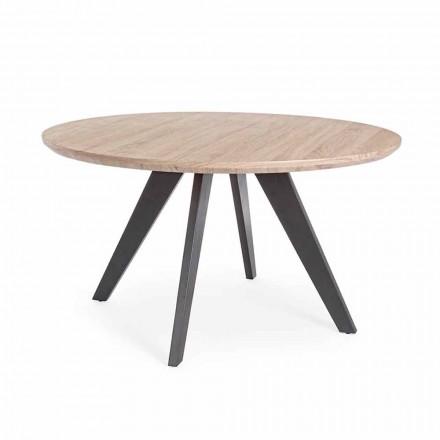 Masă de luat masa modernă cu blat rotund în MDF acoperit Homemotion - Varna