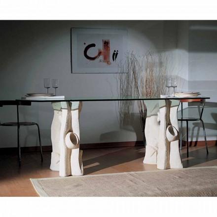 de masă de piatră și de cristal design modern daiana