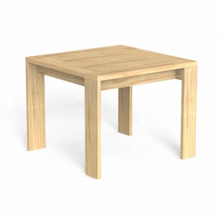 Masă de luat masa în aer liber cu design pătrat din lemn prețios - Argo by Talenti
