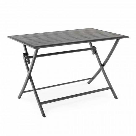 Masă de luat masa în aer liber din aluminiu cu structură rabatabilă - Hunt