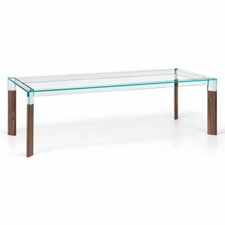 Blat de masă din sufragerie și bază din lemn masiv realizat în Italia - Presino