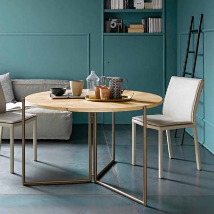 Masă de mese pliantă modernă din lemn și metal Made in Italy - Menelao