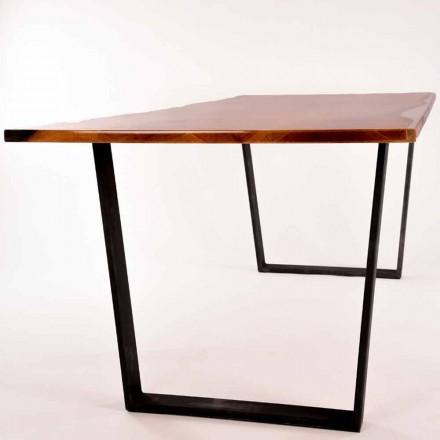 Tabelul dreptunghiular de mese de design din lemn realizate în Italia Rino