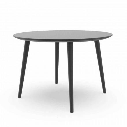 Masă rotundă de masă de grădină din aluminiu alb sau carbune - Sofy Talenti