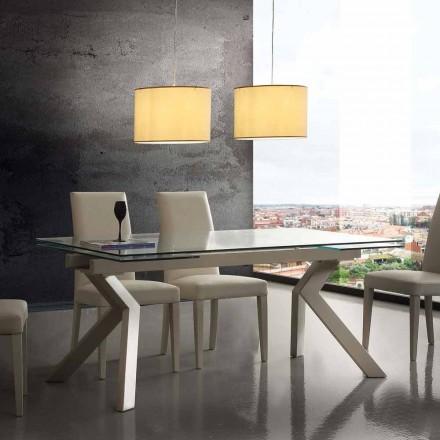 Proiectare tabel de metal extensibil și sticlă călită Mesa