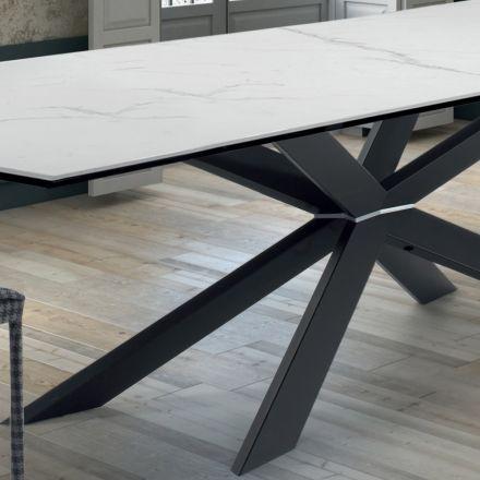Masa de bucătărie de design din marmură și oțel negru Fabricat în Italia - Grotta
