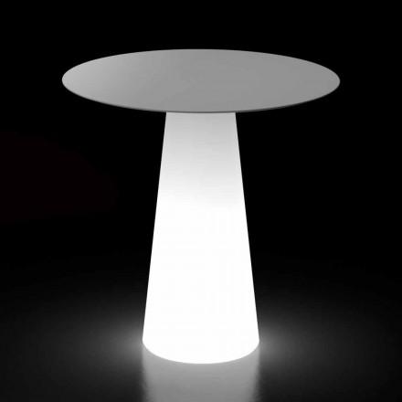 Masă de design în aer liber cu bază de lumină LED Made in Italy - Forlina