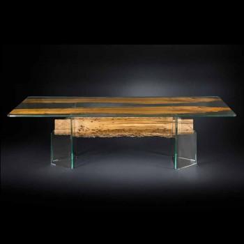 de delfin Designer de masă din lemn și sticlă Veneția venețiană