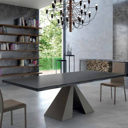Masa de design din lemn furnir și oțel fabricat în Italia - Dalmata