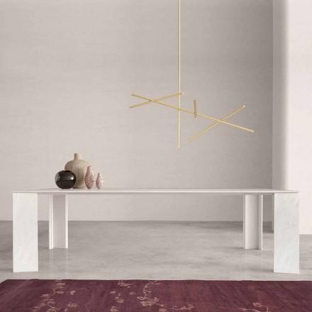 Masă de design în Namibia Marmură Albă Fabricată în Italia, 210x110 cm - Monastero