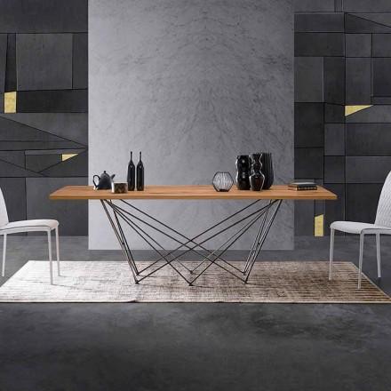Design modern cu suport din lemn și bază metalică, Esperia