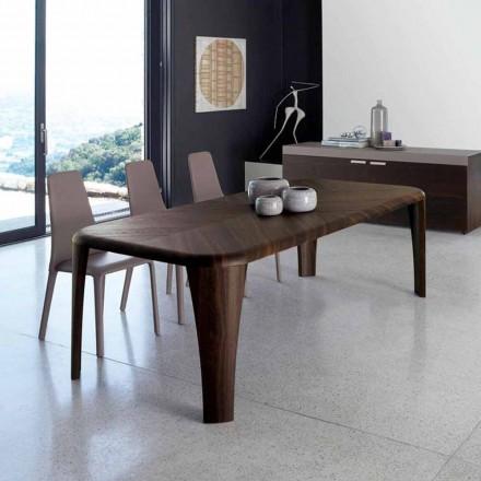 Design modern de masă din lemn realizat manual în Italia Lemn
