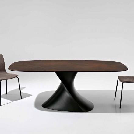 Design modern de masă din sticlă ceramică fabricat în Italia, Clark