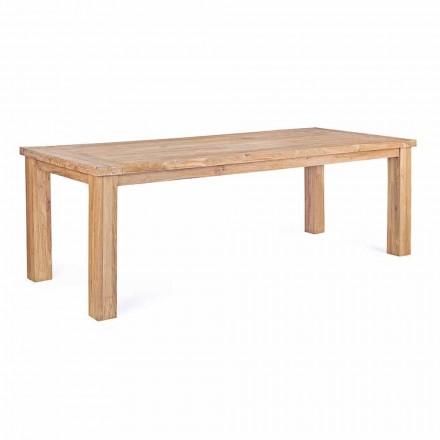 Masă de grădină în lemn de tec design, 8 locuri Homemotion - Hunter