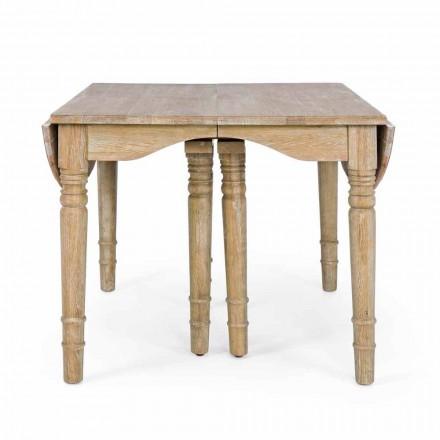 Masă clasică din lemn masiv extensibil Până la 382 cm Homemotion - Brindisi