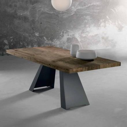 Masă de design din lemn masiv realizată în Italia Zerba