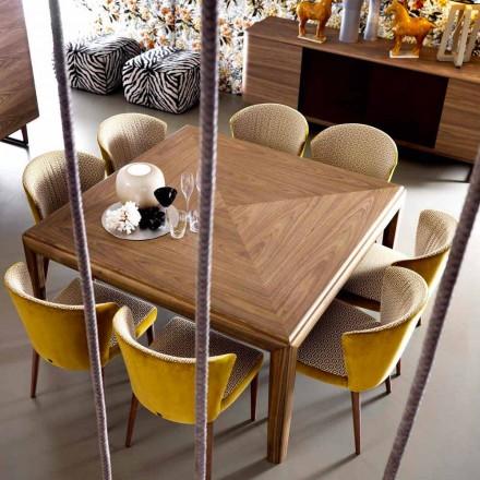 Grilli York, masă modernă din lemn masiv din Italia