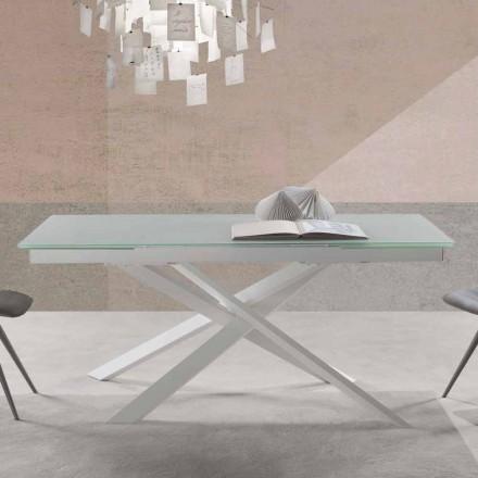 Design modern de masă extensibilă în sticlă - Marliana