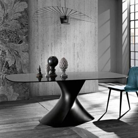 Design modern de masă din sticlă călită fabricat în Italia, Clark