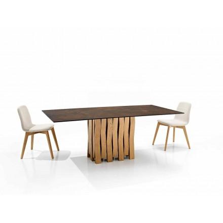Design modern de masă din sticlă ceramică fabricat în Italia, Egisto