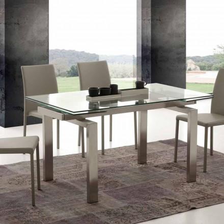 masă moderne din sticla si inox Georgia