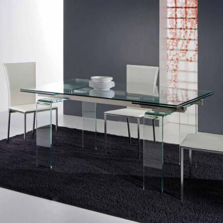 de masă modernă, realizate în întregime din sticlă călită Atlanta