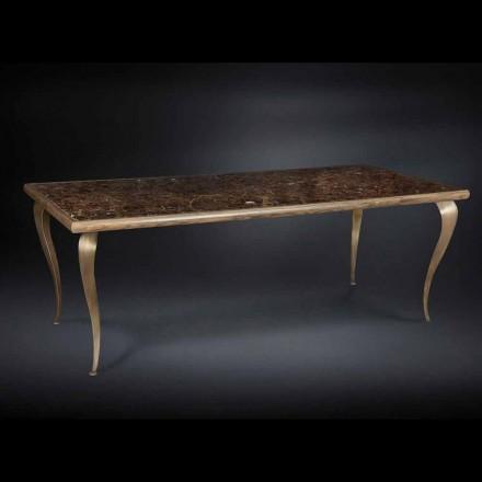 Tabelul neo-clasic cu structura din lemn masiv si Adam marmura top