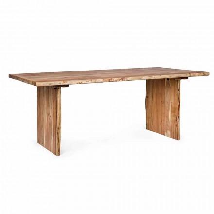 Masă de luat masa modernă din lemn de salcâm Homemotion - Pinco