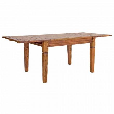 Masă extensibilă clasică Până la 290 cm în lemn masiv Homemotion - Carbo