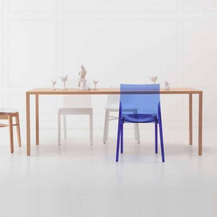 Masă de luat masa dreptunghiulară de design modern din lemn de stejar natural - Smart
