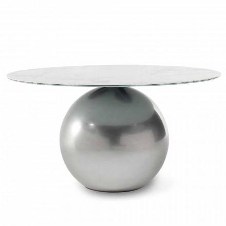 Masă rotundă din ceramică cu bază metalică Made in Italy - Bonaldo Circus