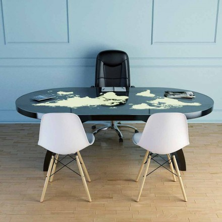Masă de birou modernă cu vârf de sticlă realizată în Italia, Pontida