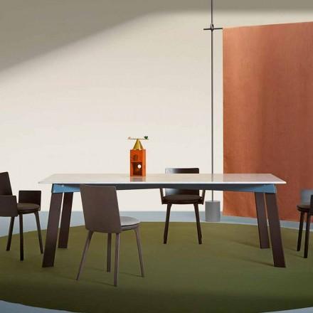 Masă de living modernă din oțel cu blat de marmură de design - Aronte