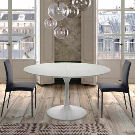 Masă rotundă extensibilă de până la 170 cm în laminat Made in Italy - Dolari