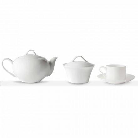 Cești de ceai stivuibile Serviciu de mic dejun 14 bucăți în porțelan - Romilda