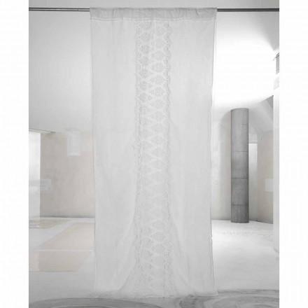 Perdată de in alb deschis, cu organza și broderie Italian Luxury - Marinella