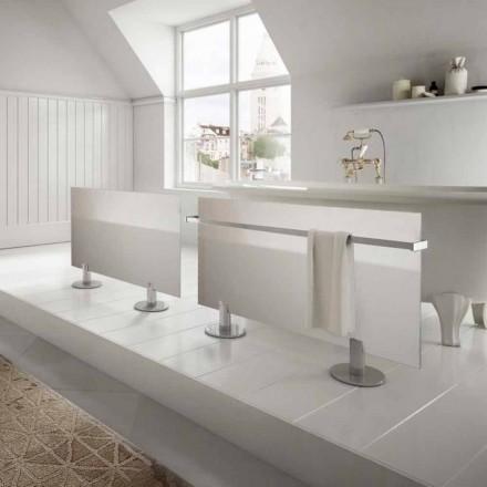 Radiatoarele electrice de la podea design modern, din sticlă albă de stele