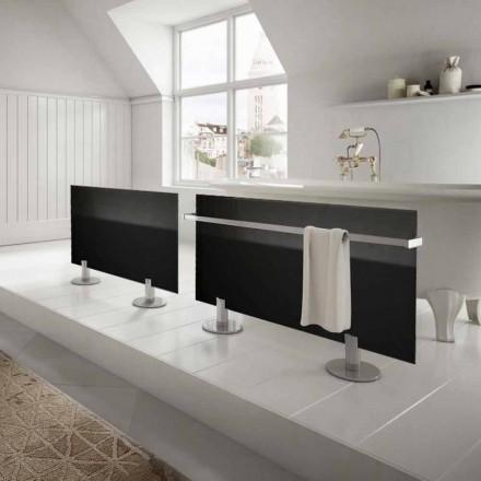 Radiatoarele electrice de la podea design modern în negru de stele din sticlă