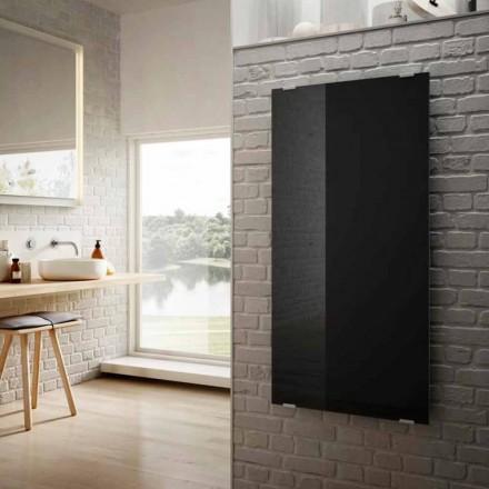 Radiatoarele electrice din sticlă neagră cu design modern Star, realizate în Italia