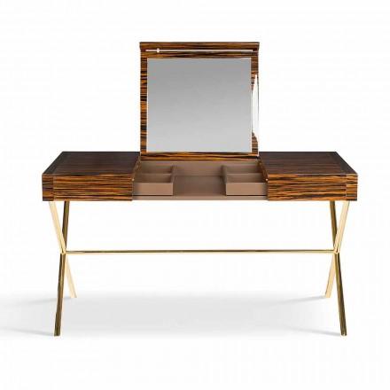 Dressing Table moderne cu pliere top în abanos strălucitor Ada 3