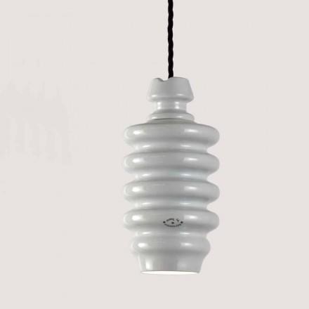 lampa TOSCOT Battersea suspensie ceramica alba