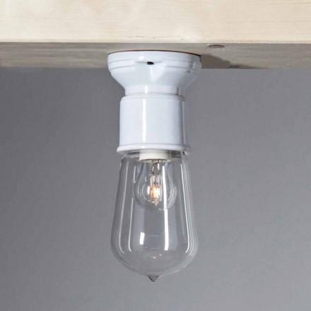 TOSCOT secolului XX plafon modern, teracotă lumină și sticlă