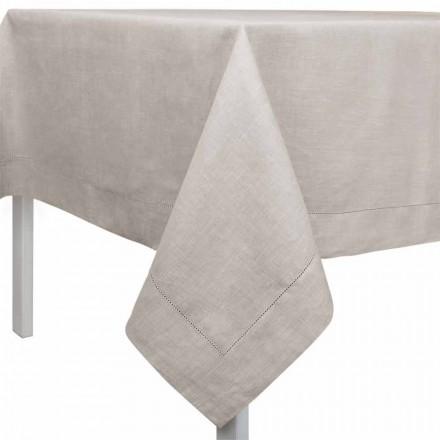 Față de masă dreptunghiulară sau pătrată din lenjerie naturală fabricată în Italia - Chiana