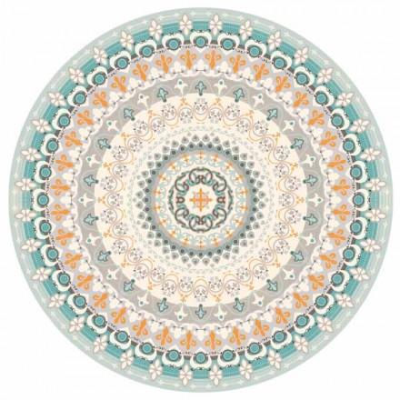Placema rotundă americană de design rotund în PVC și poliester, 6 bucăți - Rondeo