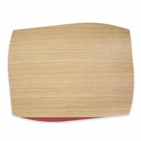 Placemă dreptunghiulară modernă din lemn de stejar Made in Italy - Abraham