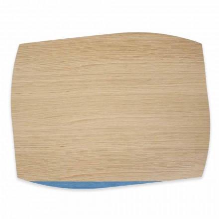 4 placi dreptunghiulare moderne din lemn de stejar Made in Italy - Abraham