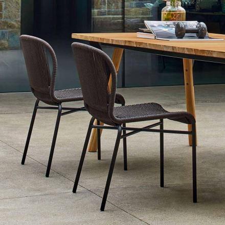 Varaschin Cricket scaun în aer liber moderne țesute manual, 2 bucati