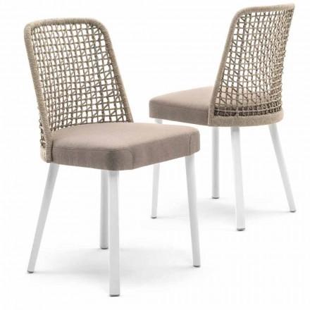 Varaschin Emma scaun de design exterior în țesături și aluminiu