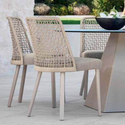 Varaschin Emma scaun de gradina design din tesatura si aluminiu