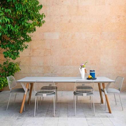 Varaschin Link masă de grădină de masă cu picioare din lemn de tec, H65 cm